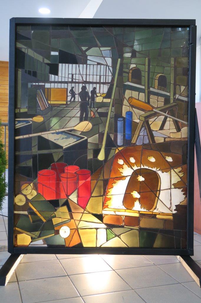 vitrail du collège Anne Frank : le travail du verrier