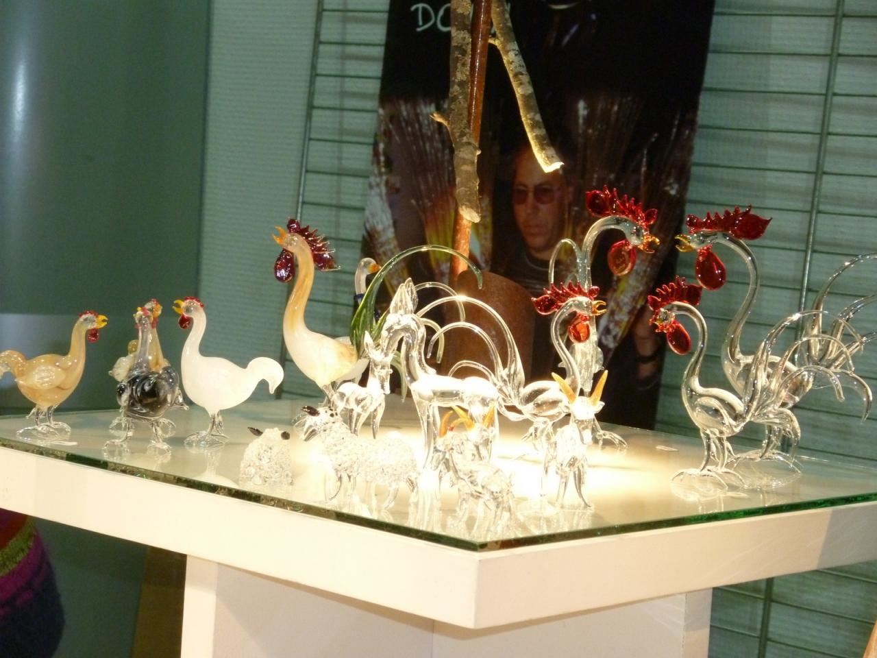 Coqs de verre