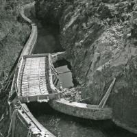 Le Canal du Forez construction du barrage de Grangent (EDF)